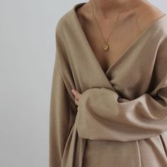 simple wrap and pendant necklace @sommerswim