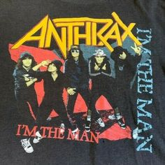 80s Anthrax band Concert Men Black T-shirt Size S-4XL #tshirts (ebay link)