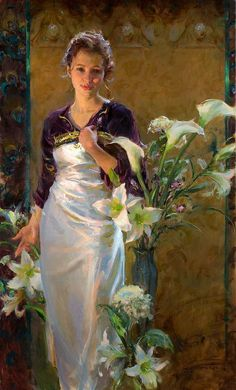 "Oil painting - Daniel Gerhartz, ""Lalique"" #art"