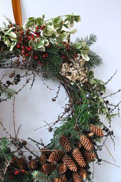 Foraged Wreath, Toronto farmer Florist, Ontario Wreath, Winter Wreath Christmas Time, Christmas Wreaths, Autumn Wreaths, Farmer, Floral Wreath, Backyard, Holiday Decor, Winter, Instagram Posts