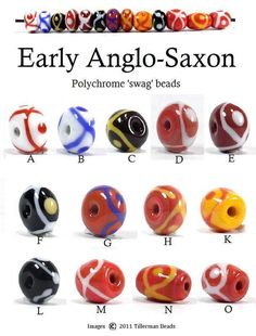 Reproduction Anglo-Saxon Swag Beads. Tillerman Beads