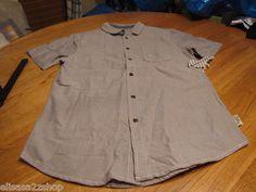 Men's Modern Amusement button up shirt CROW RARE Short sleeve grey gray S SM NEW