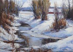 A winters walk by Mike Rangner Oil ~ 18 x 24