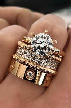 Rose Gold Engagement Ring, Vintage Engagement Rings, Diamond Wedding Bands, Bridal Rings, Wedding Jewelry, Wedding Rings, Wedding Set, Perfect Wedding, Ringe Gold