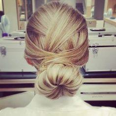 Elegant bun hairstyle