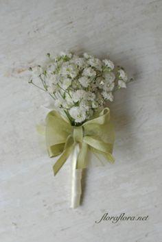 かすみ草クラッチブーケと花冠@メゾンプルミエールアットロビンズ様 花嫁様からいただいたお写真 フラワースタジオフローラフローラ*東京目黒不動前