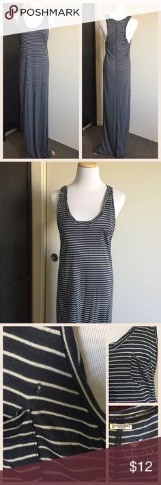 Selling this Navy and White Striped Stem Maxi Racerback Dress on Poshmark! My username is: kt_wood. #shopmycloset #poshmark #fashion #shopping #style #forsale #Stem #Dresses & Skirts