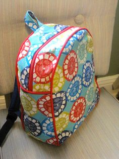 Such a cute backpack for a child! Makes me want to make some... by:Old House Mama: Backpack with a View