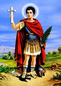 Pôster Santo Expedito - Santo Expedito, o Mártir de Metilene, segundo historiadores ele era armênio de Metilene, local onde sofreu seu martírio.  O Santo guerreiro marcou a história por seu testemunho de vida. Mártir da fé morreu decapitado, em abril do ano 303, por ordem do Imperador Diocleciano.  Soldado romano levava uma vida permissiva até o momento em que teve um