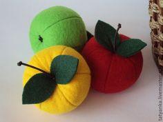 Купить Райские яблочки из фетра. - яблоко, фетровая игрушка, развитие мелкой моторики, тактильное развитие