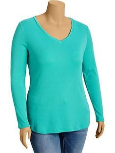 Women's Plus Perfect V-Neck Tees | Old Navy