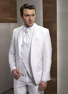 >> Click to Buy << Custom Made New Style Groom Tuxedos Notch Lapel Men's Suit White Groomsman/Bridegroom Wedding/Prom Suits (Jacket+Pants+Tie+Vest) #Affiliate