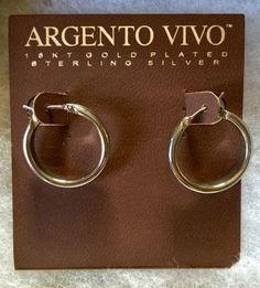 Argento Vivo Sterling Silver 22mm Earrings Hoops - http://designerjewelrygalleria.com/argento-vivo/argento-vivo-sterling-silver-22mm-earrings-hoops-2/
