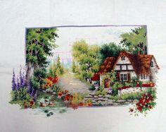 Free cross stitch pattern: summer lane