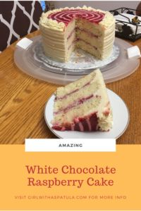 The flavor combinations of white chocolate and raspberry take this dessert to the next level.  The flavors are so intense, you will want to have one bite after another until the whole slice is gone. #birthdaycake #chocolateaddiction #easycake White Chocolate Raspberry Cake, Raspberry Torte, Fun Desserts, Delicious Desserts, Dessert Recipes, Cheesecake Frosting, Cake Baking Pans, Cupcake Cakes, Cupcakes