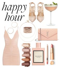 """Happy "" by georginadent ❤ liked on Polyvore featuring Sole Society, Valentino, Jennifer Zeuner, Repossi, Crate and Barrel, Yves Saint Laurent and Gucci"