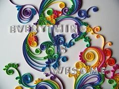 Schmancy-ness: Quilling Project. I need to learn how to quill. Awesome!