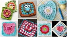 Crochet Granny Square Blankets Crochet Granny Square Free Patterns: Crochet Animal, Flower, Heart, Granny Square with Free Patterns and video for beginner and seasoned crocheters. Crochet Owl Hat, Crochet Purse Patterns, Granny Square Crochet Pattern, Crochet Purses, Crochet Squares, Crochet Patterns Amigurumi, Knit Or Crochet, Crochet Granny, Crochet Motif