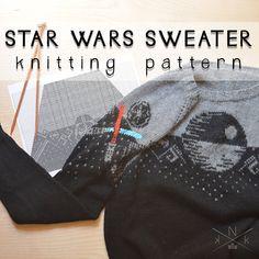 Star Wars Sweater Knitting Pattern by knatalieknits on Etsy