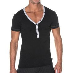 Deep V Henley by Andrew Christian