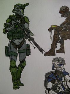Clone ranger/marksman by halonut117 on @DeviantArt