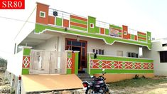 225 sq yds 3 bhk north facing new independent house for sale in hayathnagar House Front Wall Design, Single Floor House Design, Village House Design, Bungalow House Design, Village Houses, Duplex House, My Home Design, Small House Design, Home Design Plans
