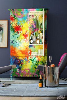 #Граффити в интерьере:)#декор мебели                                                                                                                                                                                 More