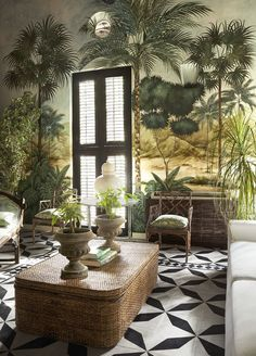 This Colombian Fashion Designer Brings a Sophisticated Spirit Into Her Cartagena. - - This Colombian Fashion Designer Brings a Sophisticated Spirit Into Her Cartagena Home – Source by clara_lange Sala Tropical, Estilo Tropical, Tropical Home Decor, Tropical Interior, Tropical Houses, Tropical Furniture, Tropical Colors, Elle Decor, British Colonial Decor