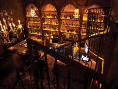 At this Cuban rum bar, you walk through a fake closet into a cool, bi-level speakeasy. Even if you wouldn't normally order it, rum is the best choice here