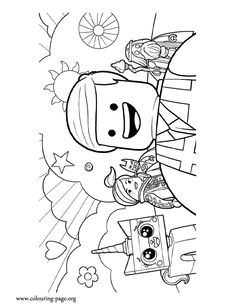 fun with this awesome coloring page from The Lego Movie. Here are the characters Emmet, Wyldestyle, Lord Vitruvius, Batman and UniKitty. Just print it! Lego Movie Coloring Pages, Coloring Book Pages, Lego Movie Characters, Lego Movie Party, Lego Activities, Coloring Sheets For Kids, Lego For Kids, Computer Animation, Lego Projects
