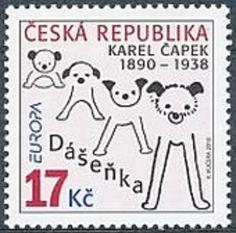 Czech stamp - EUROPA: Children's Book - Karel Čapek - Dášeňka