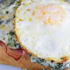Creamed Spinach Croques Monsieurs