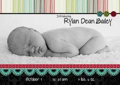 5x7 Flat Baby Announcement Enchanted Digitial Scrapbooking Card from Creative Memories. #scrapbooking