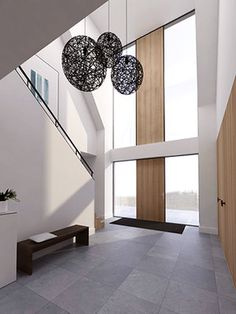 Pin by Roel Strijbos on woonboerderij in 2020 Luxury Staircase, Staircase Design, Home Interior Design, Interior Architecture, Door Design, House Design, Hallway Flooring, Bedroom Closet Design, Glass Roof