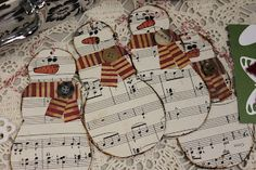 artrageousafternoon: Christmas Craftsove the sheet music for the snowmen!