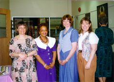 Staff members at the Lawrence Headquarters Branch in 1995. #TBT #mclsnj