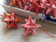 Bellas bedrifter: Origami-stjerner som julepynt...