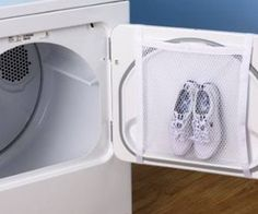 Washing sneaker and fabric shoes is now very easily. Use this net bag, it cleans sneakers yet keep them in good shape - doesn't sag them !
