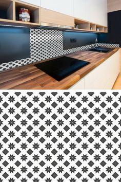 Ces Plaques De Carrelage Adhésif Imitent Les Carreaux De Ciment - Carrelage adhesif cuisine carreaux de ciment pour idees de deco de cuisine
