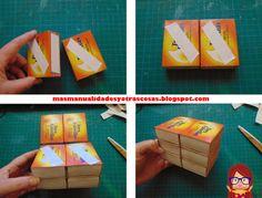 Cajonera con cajas de cerillas usadas