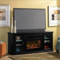 Amazoncom Real Flame Hawthorne Electric Fireplace TV Stand in
