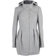 Grey hooded tulip coat and other apparel, accessories and trends. Browse and shop related looks.