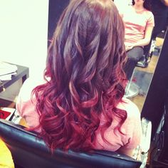 #ombre #red