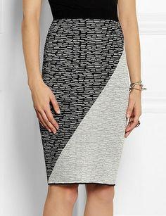 JONATHAN SIMKHAI Intarsia jersey pencil skirt