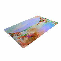 "Ebi Emporium ""Something About the Sea 3"" Multicolor Lavender Woven Area Rug"