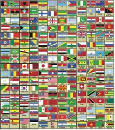 Clube do DVD: bandeiras de todos os países do mundo com nome