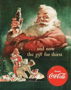 Coca-Cola Santa Claus Gift Giving Kids - Coca-Cola is more than a brand or a logo. It's a part of American culture - for some people attitude to life and lifestyle. The Mad Men Art Collection presents more than 200 vintage Coke ads. Coca Cola Christmas, Christmas Ad, Christmas Gifts For Kids, Vintage Christmas Cards, Christmas Pictures, Christmas Things, Father Christmas, Christmas Items, Christmas Morning