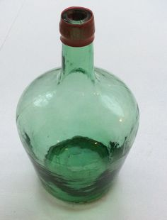 vihreä pullo, korkeus 26cm