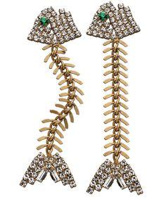 Elizabeth Cole fishbone earrings