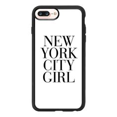 iPhone 7 Plus/7/6 Plus/6/5/5s/5c Case - New York City Girl Vogue... ($40) ❤ liked on Polyvore featuring accessories, tech accessories, phone cases, fillers and iphone grip case